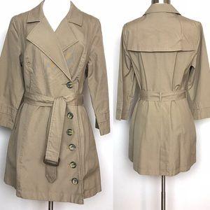 UO   Rapscallion Trench Coat Flannel Lined Size L